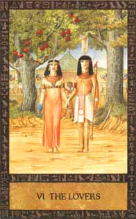 Green Man and the Gatekeeper - The Ancien Egyptian Tarot
